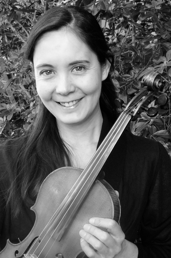 Our concertmaster Amandine Guerin